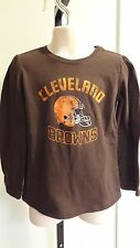 New NFL Cleveland Browns Infant/Toddler Girls Brown LS Logo Tee: 12/18 mos - 5T