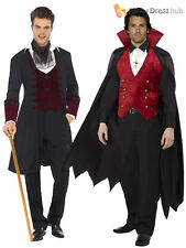 Adult Mens Count Dracula Vampire Costume Halloween Fancy Dress Party Gothic