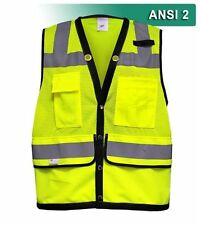Reflective Apparel Surveyor Economy Safety Vest Hi Vis Mesh ANSI 2 RAF-587-ST