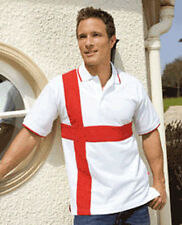 ENGLAND POLO SHIRT, St George, Flag, Patriotic, Football, Rugby, St George's Day
