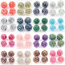 Hot 5/10Pcs Soild Disco Ball Acrylic Gloosy Loose Spacer Beads Earring Findings