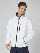 Helly Hansen Crew Midlayer Fleece Lined Waterproof Jacket 30253/001 White NEW