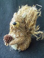 Cute Squirrel with Pine Cone Ornament!  NATURAL MATERIALS!  THISTLE!  SO COOL!!