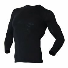 Thermal Base Layer Mens Underwear Top Compression Long Sleeve Shirts Black ECL