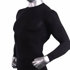 Thermal Base Layer Mens Compression Long Sleeve Shirts Underwear Black CLM