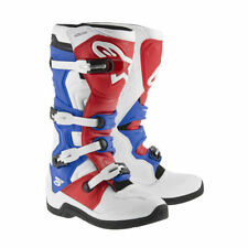 Alpinestars Tech 5 Motocross Boots 2015 white-blue-Red Motocross Enduro
