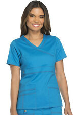 Scrub Dickies Gen Flex Youtility Mock Wrap Top 817355 Riviera Blue FREE SHIPPING