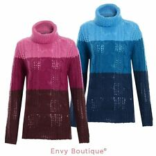 BRAVE SOUL LADIES WOMENS KNITTED CHUNKY ROLL POLO NECK KNIT JUMPER SIZES 10-16