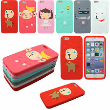 Lovely 3D Cute Cartoon Animal Soft Silicone Rubber Cover Case For Apple iPhone