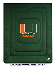 MIAMI HURRICANES LOCKER ROOM COMFORTER, PILLOW SHAM & PILLOW CASE