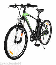 ELECTRIC BIKE EASY PEDAL BICYCLE SUSPENSION SHIMANO GEARS BLACK LIKE RALEIGH