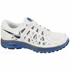 NIKE MENS DUAL FUSION RUN 2 UK SIZE 6-10.5 WHITE RUNNING TRAINERS SHOES COMFORT