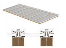 Complete Timber Supported Polycarbonate Roof Kit 3 Metre Long 12 Metre Wide.