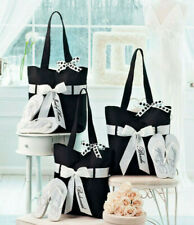 Bridal Party Matching Tote Bag & Flip Flops Beach Wedding Gifts Black White