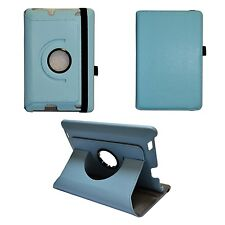 LT BLUE AMAZON KINDLE HDX FIRE 17.8cm INCH PU LEATHER 360 DEGREE ROTATING CASE