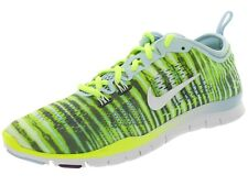 Nike Free 5.0 TR Fit 4 Print Womens sz Running Shoes White Volt 629832 401