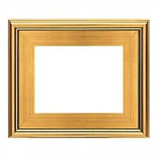 "NEW 3"" WIDE CLASSIC MODERN PHOTO PICTURE ART PAINTING FRAME PLEIN AIR WOOD GOLD"