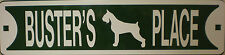 Schnauzer Dog Custom Personalized Street Sign Pet Name Great Gift Idea!