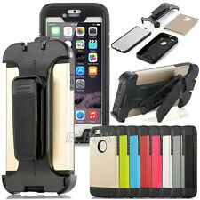 Armor Heavy Duty Case Cover + Screen Protective + Belt Clip For Various Phones