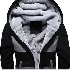 Mens Winter Warm Hoodie Thicken Fur Lining Fashion New Coats Jackets Parka Plus