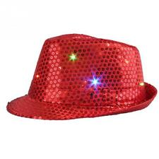 Fashion Sequin Western Style Cowboy Party Hat with Blinking LED Unisex (New)