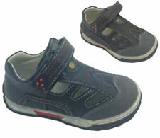 Boys Shoes Grosby Lewis Covered Toe Navy or Brown Size 7-12 New Cut out