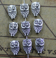 hot 30/90 lovely auspicious Tibet silver owl charms pendant 11x6mm