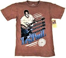 LES PAUL T-shirt Gibson Guitar Rock And Roll Hall Of Fame Inductee Adult M-2XL