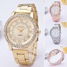 Women's Watch Men Crystal Rhinestone Analog Quartz Stainless Steel Wrist Watches