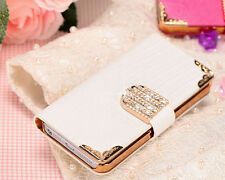 New Luxury Crystal Wallet Purse Leather FLIP CASE COVER FOR Apple iPhone 4 4G 4S