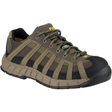 Caterpillar Mens Switch S1 Safety Work Shoes Brown