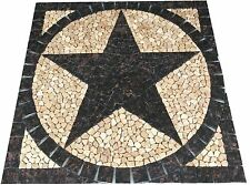 S TanBrown Granite Texas Star Mosaic Medallion Backsplash Floor Tile Marble Deco