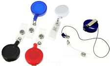 BADGE REEL - RETRACTABLE RECOIL YOYO SKI PASS ID CARD HOLDER KEY CHAIN CARABINER