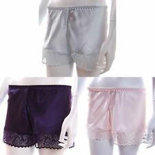 PASTELS Ladies Satin French Knickers Briefs - 100% UK MADE- 3 Colours + 5 Sizes