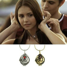 The Vampire Diaries Elena's Vervain Antique Locket Pendant Vintage Necklace YW