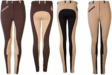 Ladies Deluxe Two Tone Jodhpurs Riding Trouser Jodpur Stylish Comfy Stretchy