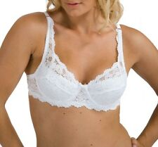 Underwired Bra Padded Lace Bras White Black - Size 34 36 38 40 42 Cup B C D DD E