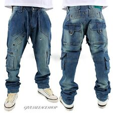 BROOKLYN MINT COMBAT JEANS, URBAN HIP HOP CARGO BRANDED DENIM, BAR TIME IS MONEY