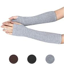 Fashion Winter Wrist Arm Hand Warmer Knitted Long Fingerless Gloves Mitten