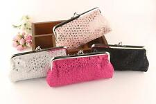 New Women Lovely Style Lady Wallet Hasp Sequins Purse Clutch Bag Hot Pink
