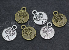 New 10/50/260pcs Tibetan Silver Beautiful Tree Charms Pendant DIY 15x12mm
