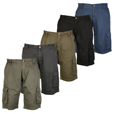 BB  MENS KAM JEANS KNEE LENGTH ARMY COMBAT CARGO PANTS SHORTS ALL WAIST SIZES