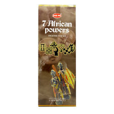 Hem 7 AFRICAN POWERS  Incense 6 Hexagon Packs of 20 = 120 Sticks- 3681