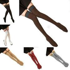 Fashion Women's High Striped Color Point Over Knee Long Stockings Thigh Socks