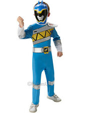 Dino Charge Deluxe Power Rangers Blue Outfit Fancy Dress Costume Boys (3-8y)