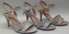 NEW Blossom Elton-3 Womens Ladies Wedding Pageant Rhinestone Open Toe Heel Shoes