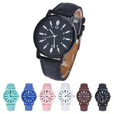 Stylish Pure Colour Womens Casual Watch Faux Leather Analog Quartz Wrist Watches
