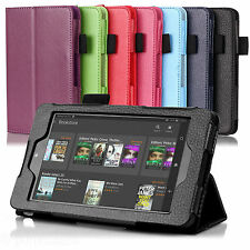 "GENUINE AUGUST® LEATHER CASE COVER FOR NEW AMAZON KINDLE FIRE HD 6"" TABLET"