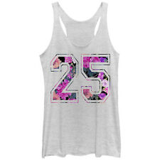 Lost Gods Floral Print 25 Womens Graphic Racerback Tank