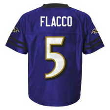 NWT NFL Baltimore Ravens Joe Flacco Purple Youth Replica Jersey: S-XL